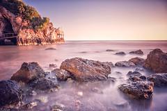Early morning at the beach (lichtspiel_arminpixner) Tags: ifttt 500px landscape water beach travel ocean rock seascape seashore outdoors dusk holidays fujifilm gargano peschici no person xt1