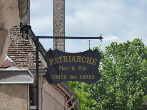 Patriarche Beaune  - Rue du Collège/Rue Paul Chanson, Beaune - sign - Patriarche Père & Fils Visite des Caves