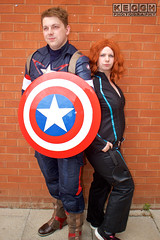 IMG_1809.jpg (Neil Keogh Photography) Tags: shield marvel theavengers stars blue cosplayers armour pants tv comics red female backpack male top jumpsuit film brown wintersoldier videogames boots black cosplay captainamerica marvelcomics blackwidow white