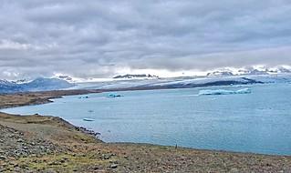 Republic of Iceland ~ Shoreline with Icebergs