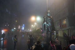 Gangtok (sourted) Tags: sikkim gangtok night streets rainy mahatma gandhi statue