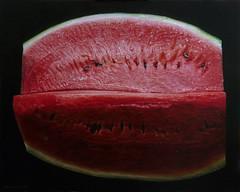 """Summer lips"" Anno 2009 (Dascanio Emanuele) Tags: life red art fruit still paint arte natura rosso frutta realism emanuele morta anguria pittura iper iperrealism dascanio"