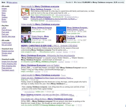 Realtime Twitter Search Result on Google