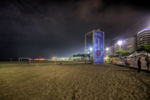 Copacabana Beach at Night