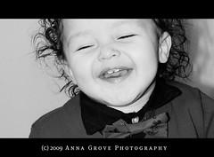 Happy (Anna Grove) Tags: portrait blackandwhite bw art smile face happy kid child latino hispanic memorycornerportraits heritage2011