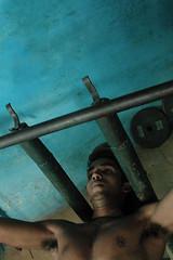 Varanasi (BSwordsphotos) Tags: india man male men exercise masculine homoerotic varanasi gym benaras armpits uttarpradesh akhara