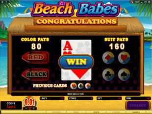 free Beach Babes gamble bonus game