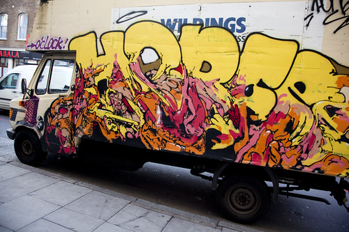 French artist Horfée hits up a London Van