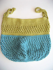 Crochet shopping tote pattern by Knot By Gran'ma