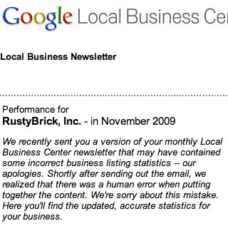 Google Maps Apology