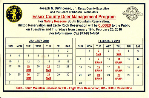 Essex County Deer Hunt Notice