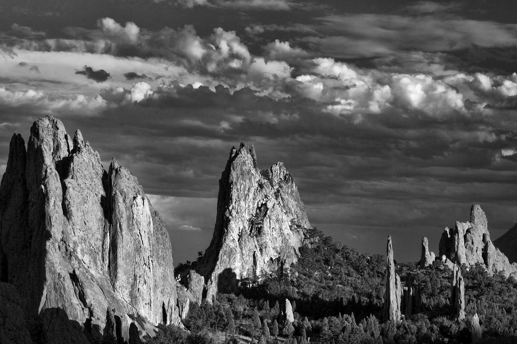 Garden of the Gods - Black and White
