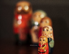 We Are Fam-i-ly (Photo Amy) Tags: wood 50mm bokeh pennsylvania painted january russian matryoshka woodentoy fromrussiawithlove russiannestingdoll babushkadoll bokehlicious canoneos50d