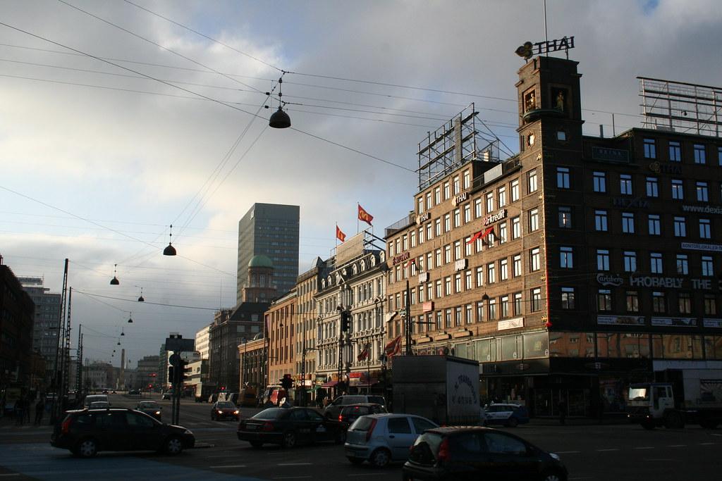 Vesterbrogade set fra Rådhuspladsen