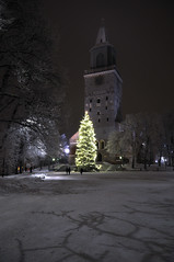 100117 #1 (Jari) Tags: winter suomi finland turku cathedral january christmastree talvi 2010 bo d90 tuomiokirkki turunseutu