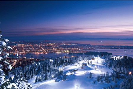 Grouse Mountain BC night