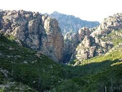 Canyon de Carciara depuis le sentier de Mela