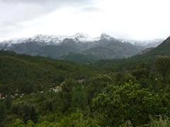 Punta Buvone et Bonifacio en conditions hivernales depuis la piste vers Mela