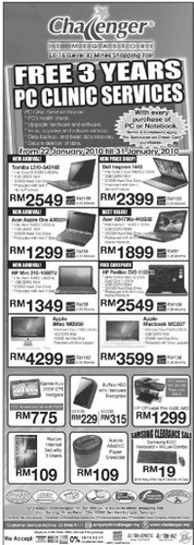 challenger it megastore 22-31 jan