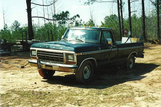 green ford truck 1979 460 f250