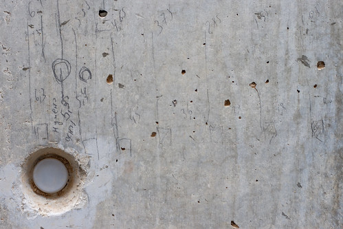 Texture: Concrete with Pencil Markings and Stud