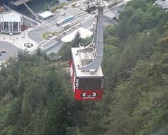 Aerial Tramway ascending Mt. Roberts