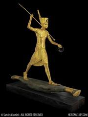 Ritual Figure of King Tutankhamun hunting a Hippopotamus. (Sandro Vannini) Tags: art kingtut egypt raft papyrus panther tutankhamun beliefs egyptians egyptianmuseum kv62 howardcarter heritagekey sandrovannini funeraryprocess ritualfigures