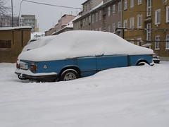 BMW 1502 (magro_kr) Tags: auto blue winter snow classic car poland polska retro bmw vehicle oldtimer zima niebieski gdansk danzig nieg gdask samochod samochd pomorze snieg wrzeszcz pomorskie langfuhr pojazd