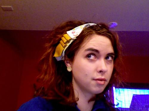 Vintage Tie Headband