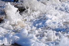 Further Froth (EJ Images) Tags: uk sea england slr water suffolk nikon tide wave spray incoming eastanglia breakingwave 2010 seaspray lowestoft seawater nikonslr d90 pakefield nikond90 lowestoftbeach pakefieldbeach 18105mmlens ejimages