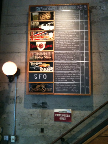 The Strong Beer Month Board at 21st Amendment