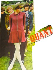 Quant Fashion backed by Yardbirds (Pennelainer) Tags: retro teen twiggy maryquant yardbirds hailhailrocknroll