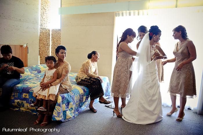 Ari & Shaun's Wedding - Bride getting ready