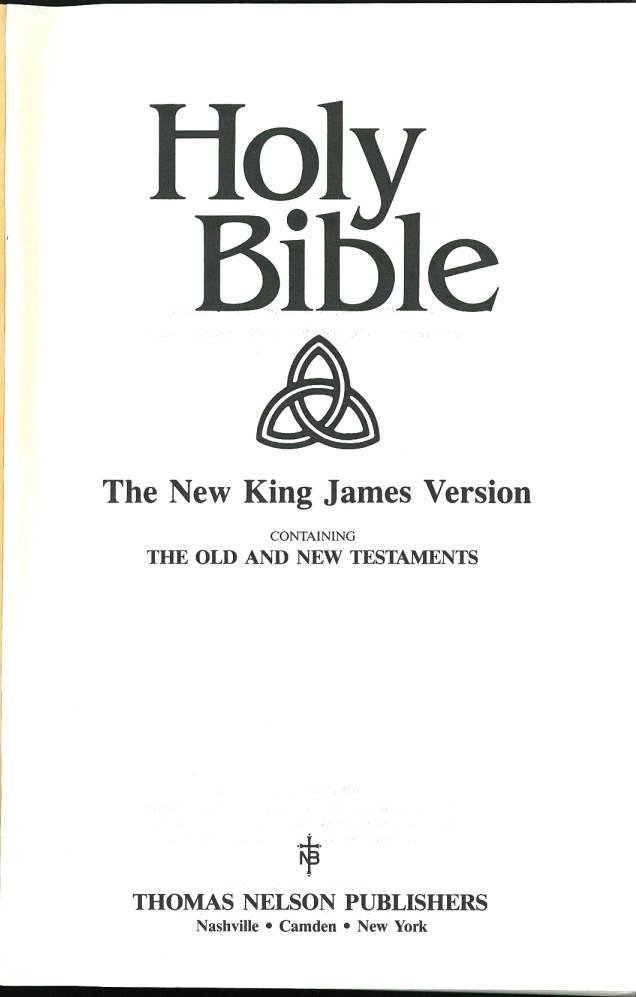 New King James Version Nkjv Internet Bible Catalog
