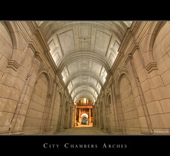 Glasgow City Chambers Arches (Kit Downey) Tags: city architecture night canon scotland glasgow georgesquare historic merchantcity hdr glasgowcitychambers glasgowcitycouncil 400d hdratnight tokina1116mmf28 kitdowney