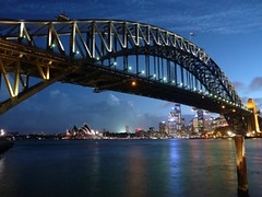 Sydney Opera & Harbour Bridge, Australia (Sir Francis Canker Photography ) Tags: santa trip travel bridge blue sunset panorama espaa house reflection building tower tourism monument skyline architecture night skyscraper point landscape puente golden bay harbor pier twilight arquitectura opera scenery gate exposure cityscape view shot pacific harbour dusk gorgeous awesome sydney australian picture australia landmark visit tourist andalucia best unesco ponte hour australiano nsw stunning vista nocturna pont coathanger outback australien aussie visiting ever semana sidney pacifico milsons australie lucena  tz10   zs7 pacocabezalopez