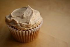 Iced Cupcake (Patent and the Pantry) Tags: cupcakes baking blog pentax cinnamon spice icing applesauce frosting nutmeg pentaxk100d