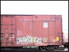 Erupto 98 (the graveyard shift) Tags: art train graffiti pacific 98 erupto uion