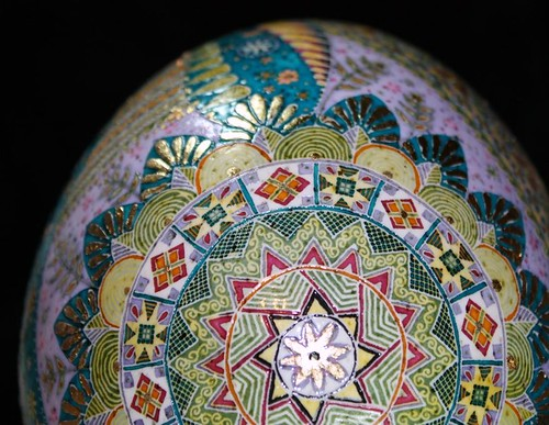 Pysanky egg with gilding
