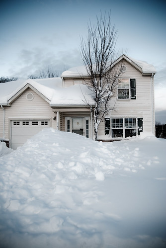 Our home buried in 33 inches of snow