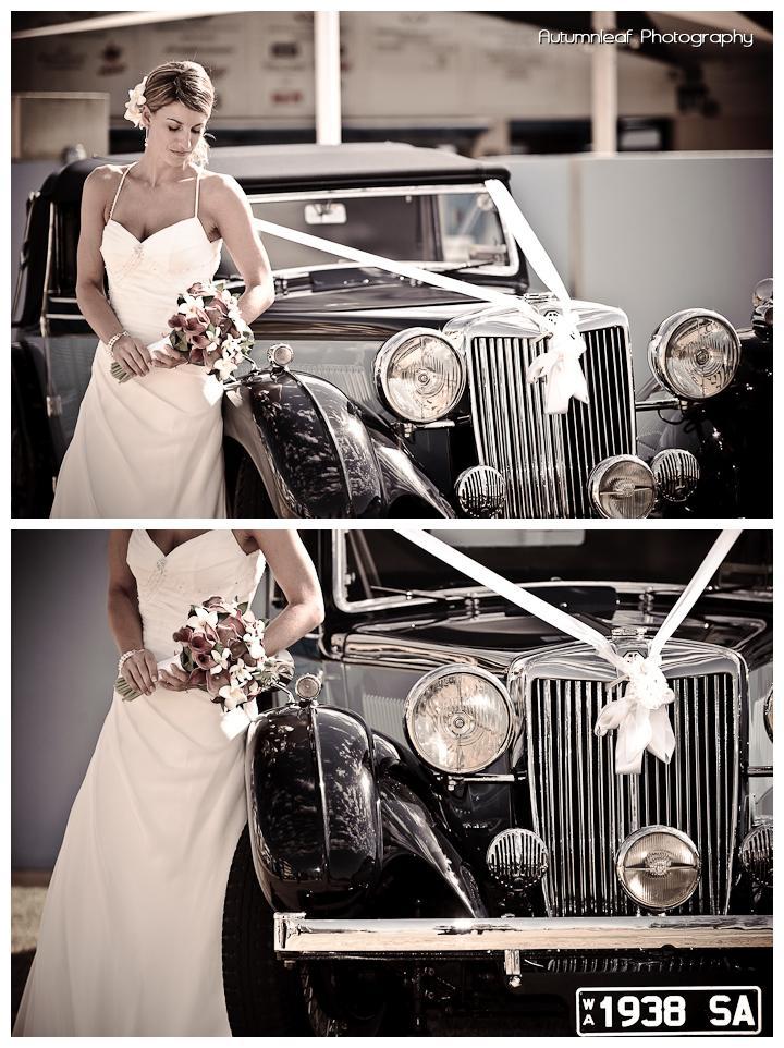 Lea and Todd's Wedding - Bride & Car