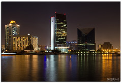 Dubai Creek (Sh@dows) Tags: nightphotography reflection night canon photography lights photo dubai shadows uae nightshoot 7d dubaicreek nationalbankofdubai shdows sarin canon24105f4isl dubaichamberofcommerce sarinsoman canon7d creeksheraton