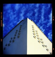 Untitled 0014 (hey.poggy) Tags: tlr architecture seagull islam bluesky malaysia filmcamera terengganu kualaibai masjidterapung kodakektacolor mrhuggies pogyhuggies
