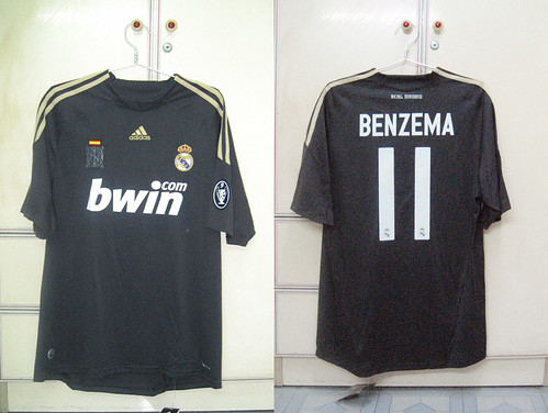 Real Madrid 2009-2010 UCL Away S/S (BENZEMA)