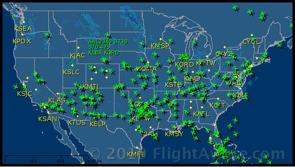 Tracciato voli American Airlines