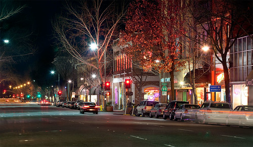 Downtown Chico at Night