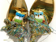 two owls (detail) (Opal Owl) Tags: art vintage shrine crystal wand altar ritual spiritual healing wicca witchcraft pagan talisman shamanism athame reiki upcycle
