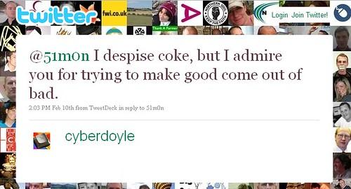 I despise Coke - Twitter