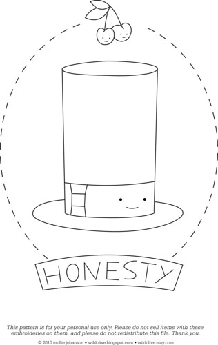 Honesty - a free pattern