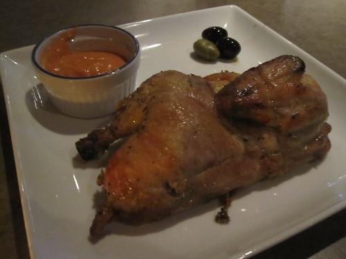 Demi-poulet de Cornouaille avec sauce épicée
